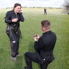 Local Couple Gets Engaged, Celebrates Easter with Skydiving