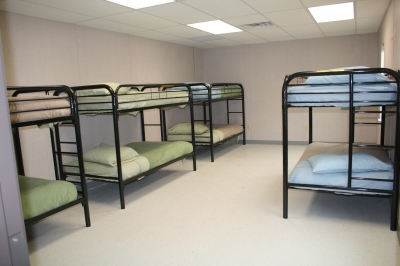 Bunks, 16 total available (8 per room)