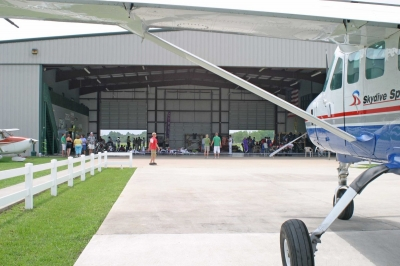 Front of the main hangar