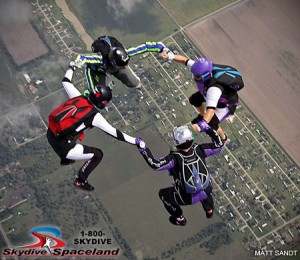 Women's Texas State Head-Up Skydiving Record, Oct. 2013. By Matt Sandt