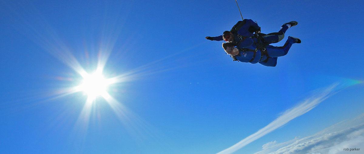 Tandem skydive sunspot