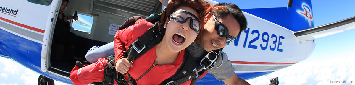 Tandem skydiving photo/video