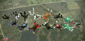 14-way Skydivers Over Sixty Record