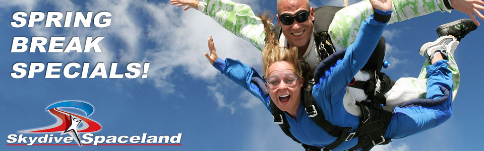Spring Break Skydiving Specials