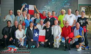 Skydivers Over Sixty 21-person Texas State Record participants, May 5, 2014