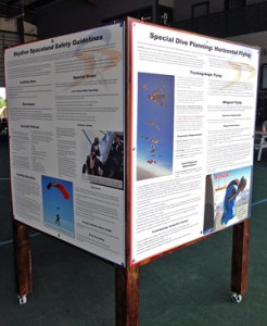 Skydive Spaceland Safety Stand