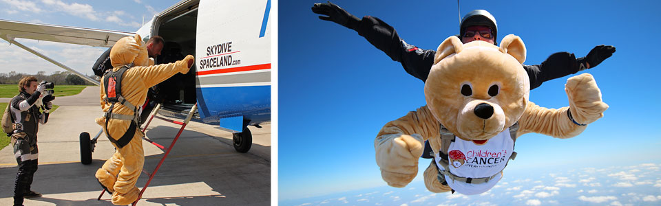Guinness World Record Tandem Skydive with Children's Cancer Recovery Foundation