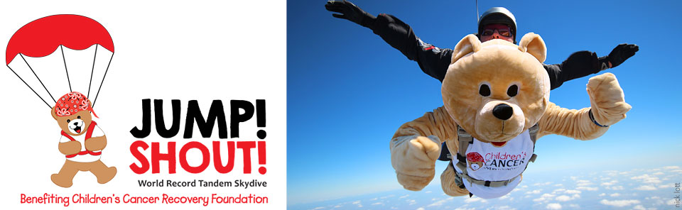 Jump! Shout! World Record Tandem Skydive for Kids With Cancer