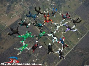 Skydivers Over Sixty 19-way, first point