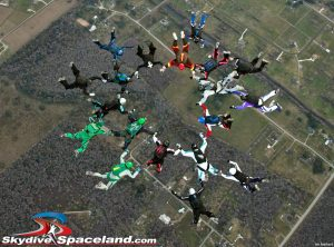 Skydivers Over Sixty 19-way, second point