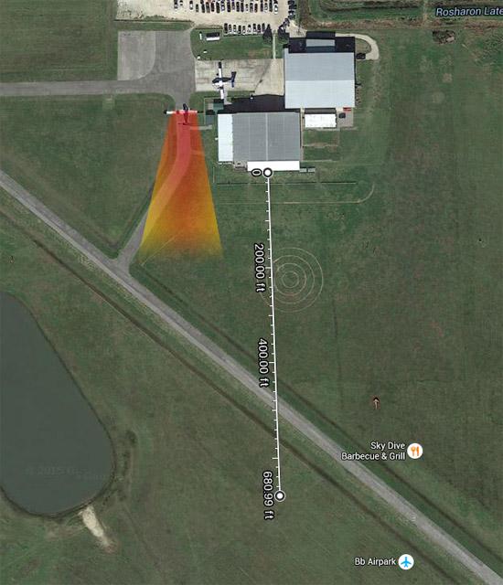 Turbulence distance visualization