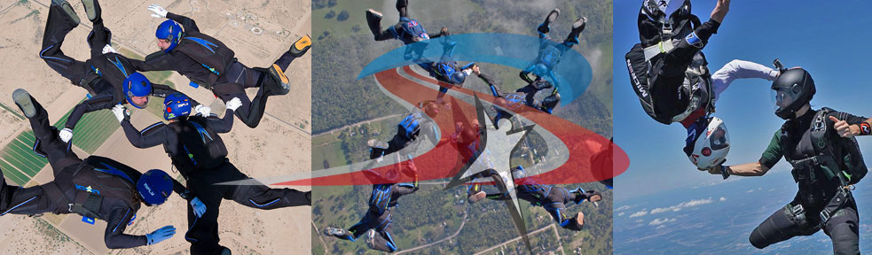 4-way FS, 8-Way FS, Mixed Formation Skydiving
