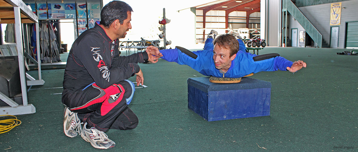 Slider Skydiver Training Program ground