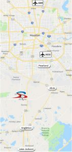 Houston area map -- click to enlarge